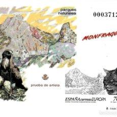 Sellos: PRUEBA OFICIAL NUMERO 69 EUROPA RESERVAS Y PARQUES NATURALES - MONFRAGUE. Lote 142686568