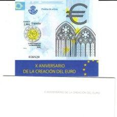 Sellos: PRUEBA NUMERO 98 - X ANIVERSARIO DE LA CREACIÓN DEL EURO. Lote 173357240