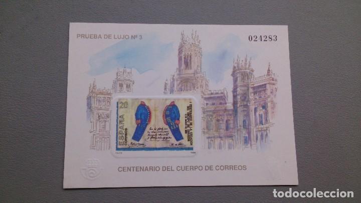ESPAÑA - PRUEBA DE LUJO 3 - PRUEBA OFICIAL EDIFIL 18 - MNH** - NUEVA - VALOR CATALOGO 48€. (Sellos - España - Pruebas y Minipliegos)