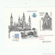 Sellos: PRUEBA OFICIAL-EDIFIL 96-EXPO ZARAGOZA 2008. Lote 121986371