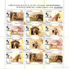 Sellos: ESPAÑA 2000. MINIPLIEGO CABALLOS CARTUJANOS. MINIPLIEGO 69. EDIFIL 3723-28A. Lote 123374907