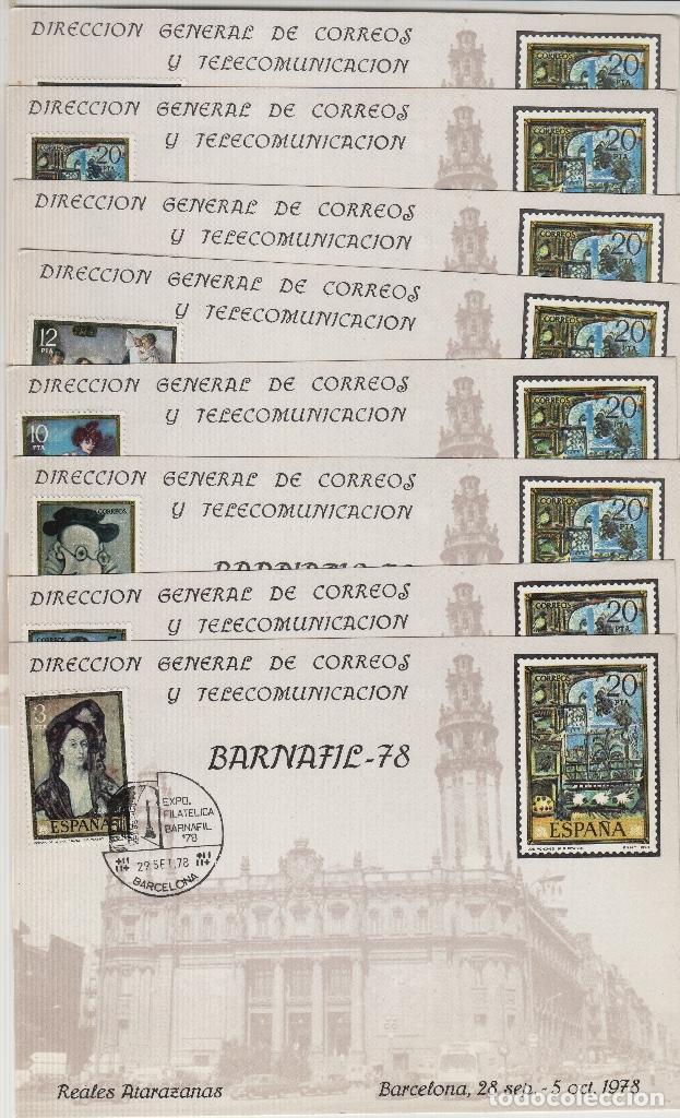 HOJA RECUERDO Nº 71 AÑO 1978 - EXPOSICION BARNAFIL 78 , REALES ATARAZANAS ,CON SERIE PICASSO 2481/88 (Sellos - España - Pruebas y Minipliegos)