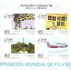 Sellos: ESPAÑA 1996. EXPOSICION MUNDIAL AVIACION Y ESPACIO 96. SEVILLA. PRUEBA OFICIAL Nº 59. Lote 124303947