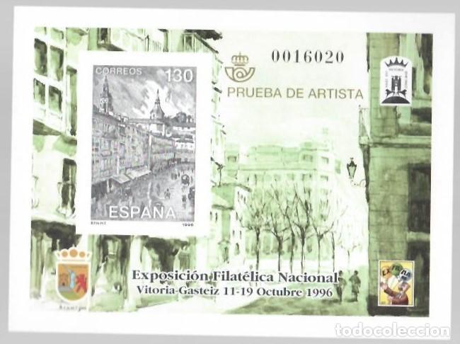 PRUEBA DE ARTISTA : EXPOSICIÓN FILATÉLICA NACIONAL (VITORIA-GASTEIZ 1996) (Sellos - España - Pruebas y Minipliegos)