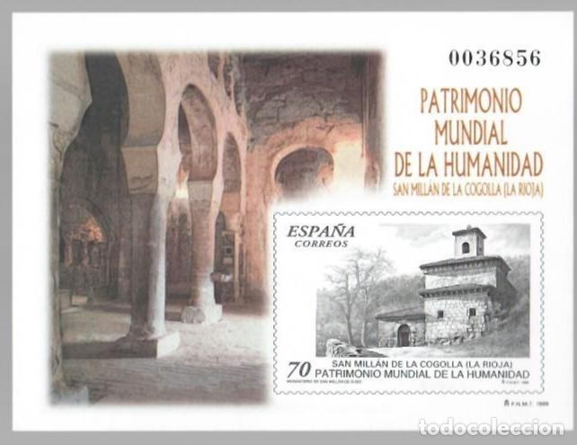 PATRIMONIO MUNDIAL DE LA HUMANIDAD - SAN MILLÁN DE LA COGOLLA, MONASTERIO DE SAN MILLÁN DE SUSO (Sellos - España - Pruebas y Minipliegos)