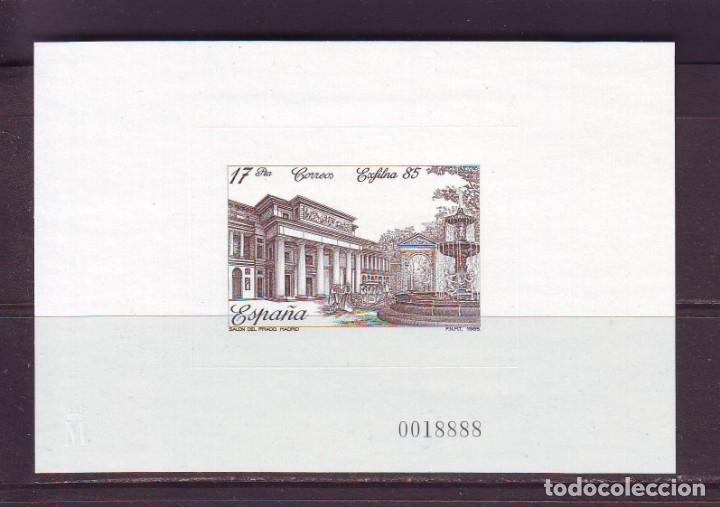 PRUEBA OFICIAL Nº 8--EXFILNA 85-- PERFECTAMENTE CONSERVADA-LUJO-SIN CHARNELA (Sellos - España - Pruebas y Minipliegos)