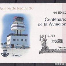 Sellos: ESPAÑA 2003 - PRUEBA CENTENARIO DE LA AVIACION - EDIFIL Nº 82. Lote 136453970