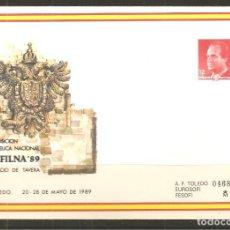 Sellos: SOBRE ENTERO POSTAL EXFILNA 89 - PALACIO DE TAVERA TOLEDO - AÑO 1989. Lote 136504114