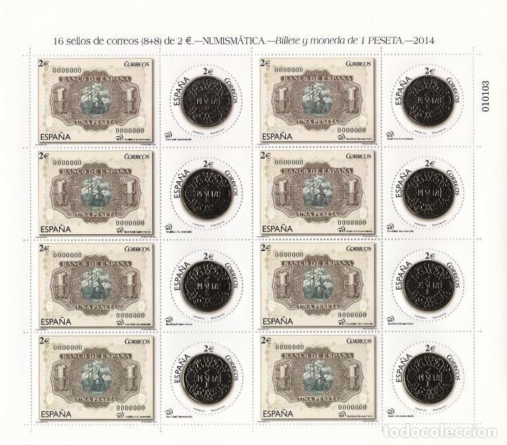 EDIFIL 4919/20** MIMIPLIEGO NUMISMATICA A VALOR FACIAL (Sellos - España - Pruebas y Minipliegos)