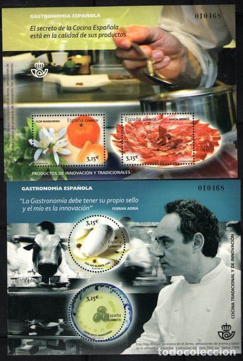 EDIFIL 4885/86** GASTRONOMIA ESPAÑOLA CASI A FACIAL ( 25,00 € ) (Sellos - España - Pruebas y Minipliegos)