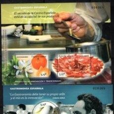 Sellos: EDIFIL 4885/86** GASTRONOMIA ESPAÑOLA CASI A FACIAL ( 25,00 € ). Lote 200578098