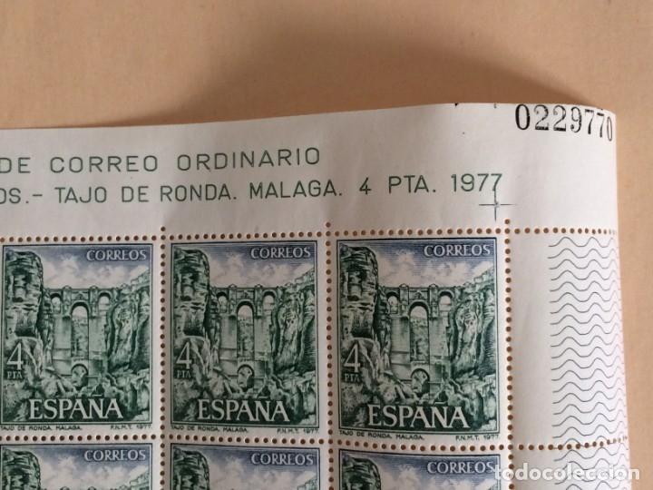 25 SELLOS DE CORREO ORDINARIO SERIE PAISAJES Y MONUMENTOS -TAJO DE RONDA- MALAGA- 4PTS. Nº0229770 (Sellos - España - Pruebas y Minipliegos)