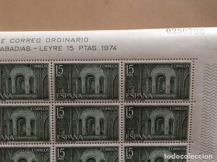 AÑO 1974 - EDIFIL 2231 - MONASTERIO LEIRE EN NAVARRA: CRIPTA - PLIEGO COMPLETO DE 25 SELLOS Nº.02507 (Sellos - España - Pruebas y Minipliegos)