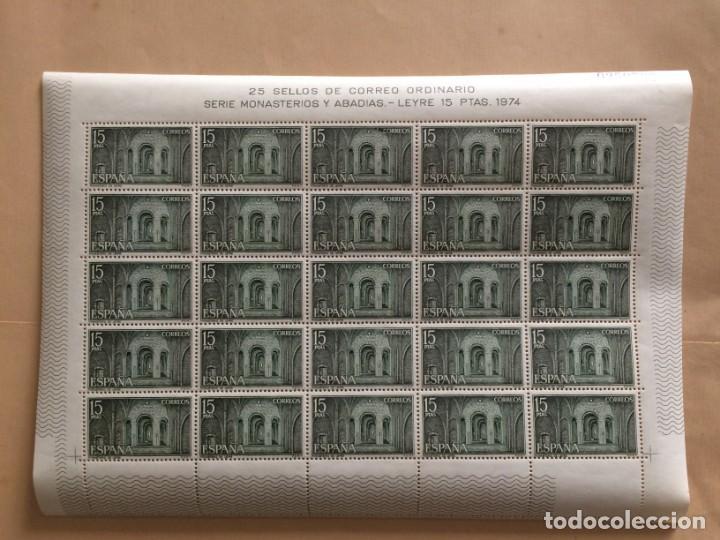 Sellos: AÑO 1974 - EDIFIL 2231 - MONASTERIO LEIRE EN NAVARRA: CRIPTA - PLIEGO COMPLETO DE 25 SELLOS Nº.02507 - Foto 2 - 137318954