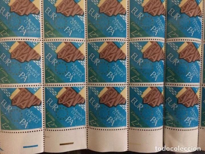 Sellos: ESPAÑA-2476 Adhesión Consejo Europa Pliego completo 100 sellos nuevos (según foto) Nº00022734 - Foto 3 - 137334438