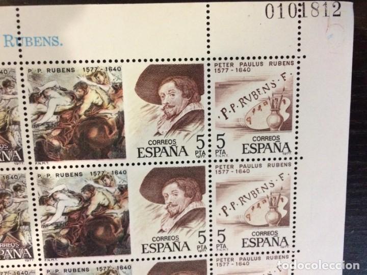 ESPAÑA- 3 PLIEGOS SERIE CENTENARIOS, 1977 PEDRO PABLO RUBENS-VECELLIO TIZIANO-JUAN DE JUNI (Sellos - España - Pruebas y Minipliegos)
