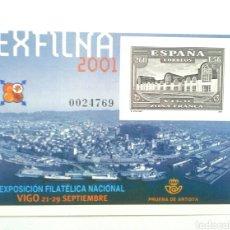 Sellos: ESPAÑA PRUEBA DE ARTISTA EXFINA VIGO 2001. Lote 138854636