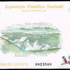 Stamps - PRUEBA OFICIAL Nº 24. EXfilna 91. prueba de lujo nº 5 - 139884258