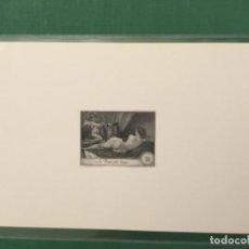 Sellos: PRUEBA DE PUNZÓN EN NEGRO DE LA VENUS DEL ESPEJO (VELÁZQUEZ) DE J.L. SANCHEZ TODA. Lote 140330758