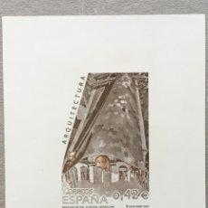 Sellos: 2007-ESPAÑA GRABADO Nº 2 - MERCADO DE STA. CATERINA TIRADA 75 UND. BARNAFIL 2007 NUMERACIÓN EN ROJO. Lote 140374602