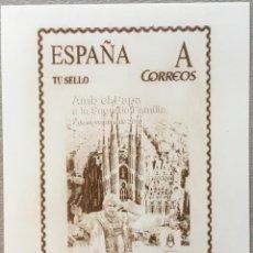 """Sellos: 2010-ESPAÑA GRABADO Nº3 - """"CON EL PAPA A LA SAGRADA FAMILIA"""" - BARNAFIL 2010 - 346/1100- FIRMADA. Lote 140384190"""