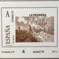 """Sellos: 2013-ESPAÑA GRABADO Nº6 - """" LA PEDRERA"""" - BARNAFIL 2013 - NUMERACIÓN EN ROJO TIRADA 50 UND.. Lote 140419274"""
