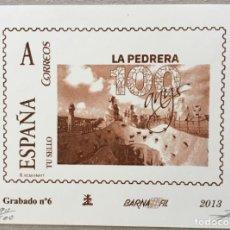 """Sellos: 2013-ESPAÑA GRABADO Nº6 - """" LA PEDRERA"""" - BARNAFIL 2013 - TIRADA 500 UND. NUMERADA Y FIRMADA. Lote 140443770"""