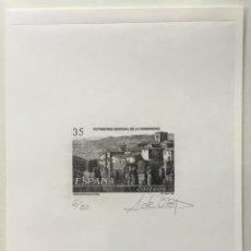 """Sellos: 1998-ESPAÑA PRUEBA ARTISTA-DISEÑO """"CASCO FORTIFICADO DE CUENCA"""" PD3558 -TIRADA 50 UND.. Lote 140446750"""