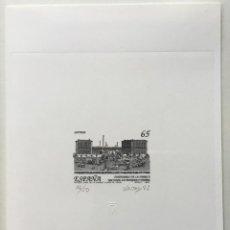"""Sellos: 1993-ESPAÑA PRUEBA ARTISTA-DISEÑO """"ANTIGUO EDIFICIO DE LA FNMT"""" PD3266 -TIRADA 50 UND.. Lote 140447382"""