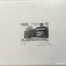 """Sellos: 1999-ESPAÑA PRUEBA ARTISTA-DISEÑO """"MONASTERIO DE SAN MILLÁN DE LA COGOLLA"""" PD3663 -TIRADA 50 UND.. Lote 140448030"""