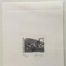 """Sellos: 2002-ESPAÑA PRUEBA ARTISTA-DISEÑO """"CASTILLO DE BAÑERES DE MARIOLA (ALICANTE)"""" PD3889 -TIRADA 50 UND.. Lote 140448326"""
