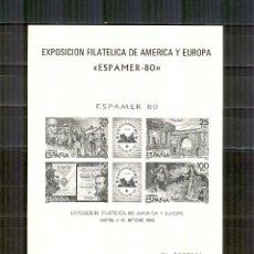 Sellos: PRUEBA 3 ESPAMER 80 EXPOSICION AMERICA Y EUROPA PERFECTO ESTADO 2583. Lote 143638174