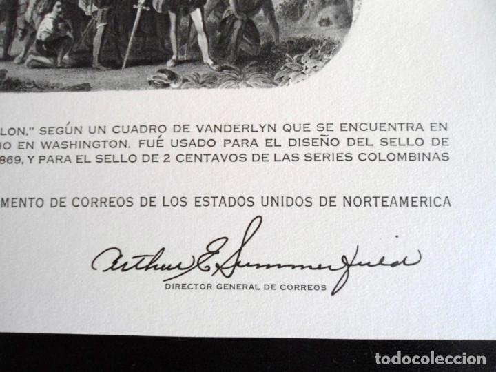 Sellos: PRIMER CONGRESO INTERNACIONAL DE FILATELIA - PRUEBA DEL DEPARTAMENTO DE CORREOS DE EEUU 1960 - RARO - Foto 3 - 144246270