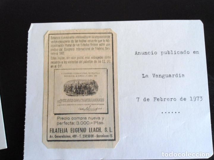 Sellos: PRIMER CONGRESO INTERNACIONAL DE FILATELIA - PRUEBA DEL DEPARTAMENTO DE CORREOS DE EEUU 1960 - RARO - Foto 5 - 144246270