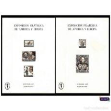 Sellos: ESPAÑA 1977. ESPAMER 77. HOJA RECUERDO EDIFIL 55/56 -EN NEGRO- PERFECTAS. NUEVO** MNH. Lote 48207087