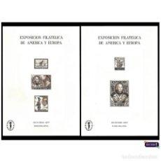 Sellos: ESPAÑA 1977. ESPAMER - HOJA RECUERDO EDIFIL 55/56. SIN NÚMERO -RARISIMAS- PERFECTAS NUEVO** MNH. Lote 48207235