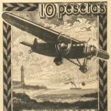 Sellos: 1939-ESPAÑA EDIFIL NE38P AVIÓN EN VUELO. PRUEBA EN NEGRO. MUY BONITA.. Lote 147839350