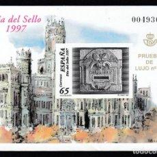 Sellos: EDIFIL. PRUEBA DE LUJO 1997. Nº 62. DIA DEL SELLO.. Lote 151220582