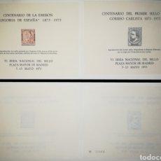 Sellos: ESPAÑA HOJAS RECUERDO ORIGINAL VI FERIA DEL SELLO 1973 EDIFIL 7-8. Lote 151551481