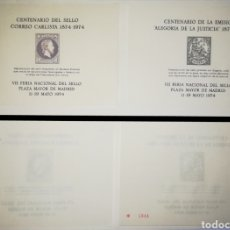 Sellos: ESPAÑA HOJAS RECUERDO ORIGINAL VII FERIA DEL SELLO 1974 EDIFIL 18-19. Lote 151551566
