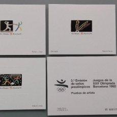 Sellos: SELLOS PRUEBAS PRUEBA DE ARTISTA 3ª EMISION OLIMPIADA BARCELONA 1992 EXCELENTE CONSE. Lote 155935202