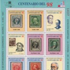 Sellos: HOJA RECUERDO 1997. CENTENARIO DEL 98. FERIA Y EXPO FILATÉLICA INTERNACIONAL.. Lote 156836162