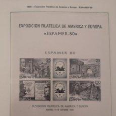 Sellos: ESPAÑA PRUEBA DE LUJO 3 EXPAMER 80 NUEVA SIN FIJASELLOS . Lote 158507006