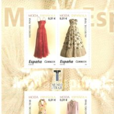 Stamps - MINIPLIEGO HOJITA MODA ESPAÑOLA 4 SELLOS DE 0,31 2006 VALOR 1,24 EUROS - 160277198