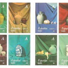 Stamps - MINIPLIEGO HOJITA 8 SELLOS ADHERIDOS TARIFA A SERIE CERAMICA - 160277858