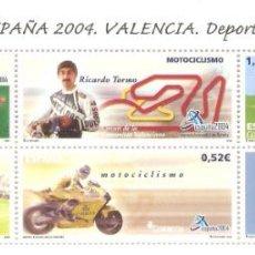 Stamps - MINIPLIEGO HOJITA ESPAÑA 2004 VALENCIA DEPORTES VALOR FACIAL 2,77 EUROS - 160278250