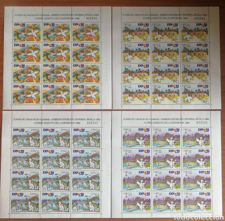 ESPAÑA: MP. 6/9 MNH, MISMA NUMERACIÓN EN LOS 4 PLIEGOS. (Stamps - Spain - Tests and Minisheets)