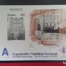 Sellos: + PRUEBA OFICIAL Nº 72 (PRUEBA DE ARTISTA) - EXFILNA 2000 - AÑO 2000 - LEER DESCRIPCIÓN. Lote 160994970