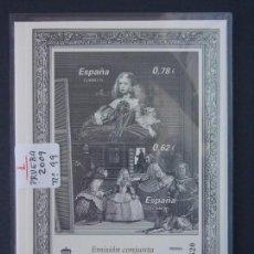 Sellos: PRUEBA OFICIAL Nº 99 - PINTURA VELAZQUEZ , ESPAÑA-AUSTRIA - ESPAÑA AÑO 2009 .. A1460. Lote 162375282