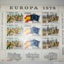 Sellos: ESPAÑA HOJA RECUERDO PROMOCIÓN EXPOSICIÓN FILATÉLICA EUROPA 78 XI FERIA DEL SELLO 1978 EDIFIL 1. Lote 164379013